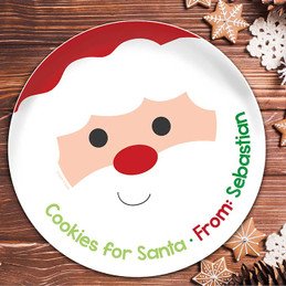 Cookies for Santa Kids Plate