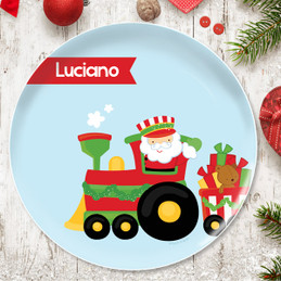 The Xmas Choo Choo Train Kids Plate