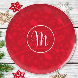 Christmas Initial Christmas Plate