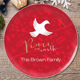 Peace On Earth Christmas Plate
