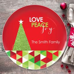 A Glitter Tree Christmas Plate