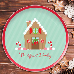 Our Sweet Xmas House Christmas Plate