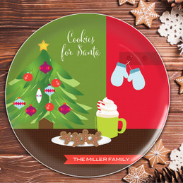 Xmas Cookies And Cocoa Christmas Plate