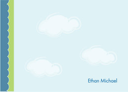 Cute Personalized Notecard | Dreamy Clouds