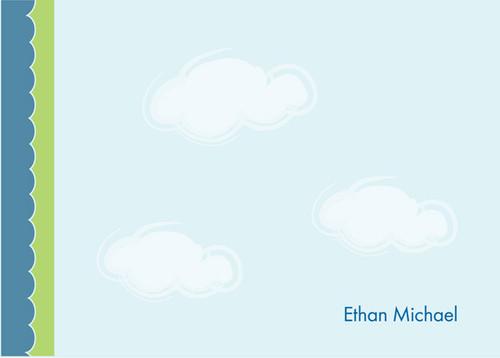 Cute Personalized Notecard | Dreamy Clouds