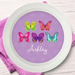 Bright Butterflies Kids Bowl