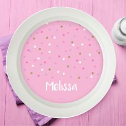 Sweet Glitter Dots Kids Bowl
