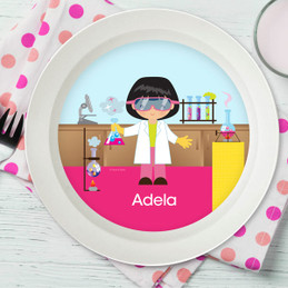Cute Scientist Girl Kids Bowl