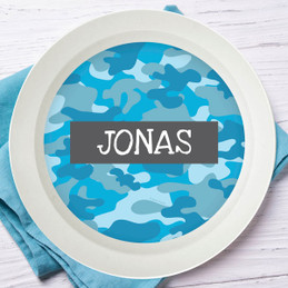Blue Camouflage Kids Bowl