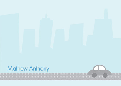 Awesome Personalized Stationery For Kids   Driving By The City