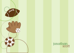 Browse Kids Personalized Stationery Cards | My Love For Sports