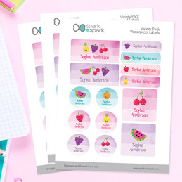Yummy Fruits Waterproof Labels Variety Pack (Set of 56)