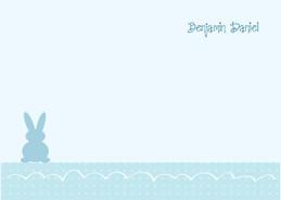 Cute Bunny In A Corner Notecards1