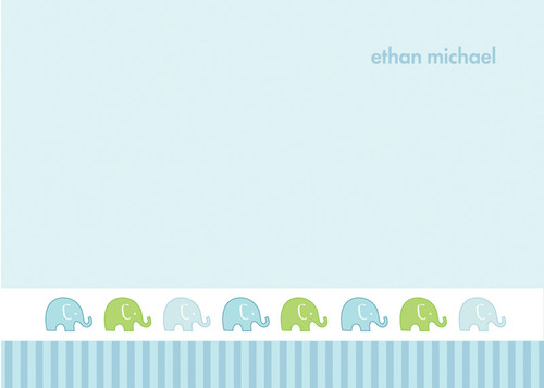 Beautiful Personalized Note Cards | Cute Elephant
