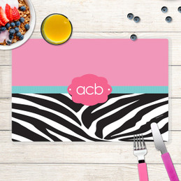 Zebra and Pink Kids Placemat