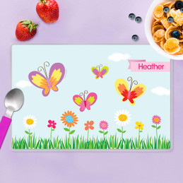 A Butterfly Field Kids Placemat