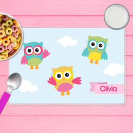 Three Owls Kids Placemat