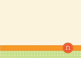 Awesome Personalized Stationery Cards   Monogram Stamp Orange