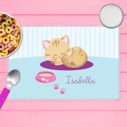 Cute Little Kitten Kids Placemat