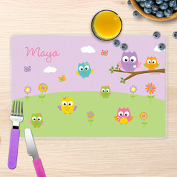 Owls on the field Kids Placemat