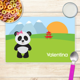 sweet panda kids placemat