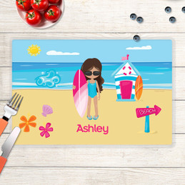 Beach Girl Kids Placemat