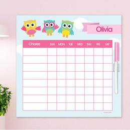 Three Owls Editable Chore Chart