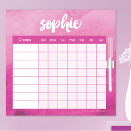Bold Colorful Name Kids Chore Chart