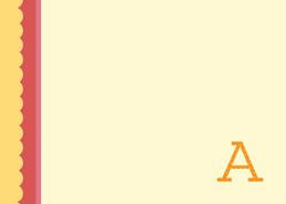 Browse Notecard Set | Single Initial Orange