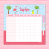 Sweet Flamingo Love Chore List For Kids