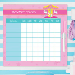 Sweet Carousel Chore Chart For Teens