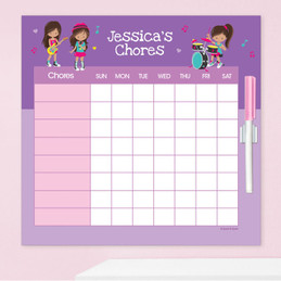 Rock And Roll Band Charts For Kids
