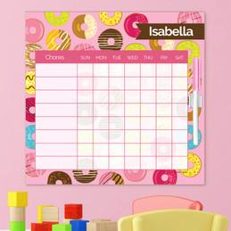 Sweet Donuts Chore Calendar