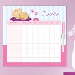 Cute Little Kitten Weekly Chore Chart
