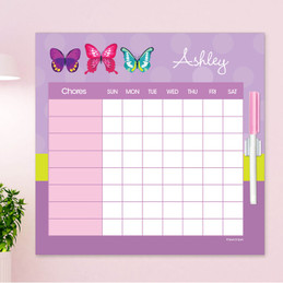 Bright Butterflies Summer Chore Chart