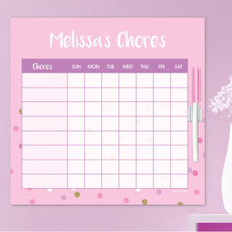 Sweet Glitter Dots Charts For Kids