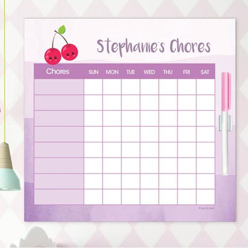 Yummy Cherries Weekly Chore Chart