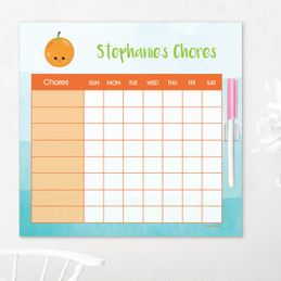 Yummy Orange Childrens Chore Chart