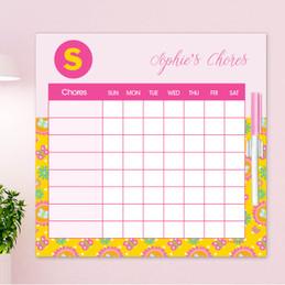 Flower Initial Chore Schedule