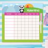 Sweet Panda Customizable Chore Chart
