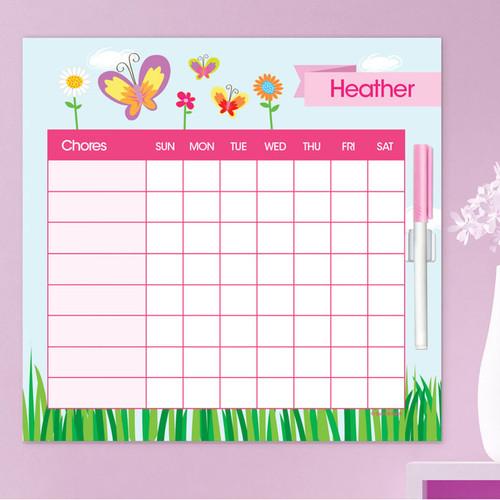A Butterfly Field Summer Chore Chart