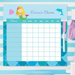 Mermaid Shades Blonde Kids Chore Charts
