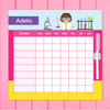Cute Scientist Girl Blonde Summer Chore Chart