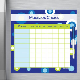 Circles And Circles Blue Chore Chart For Teens