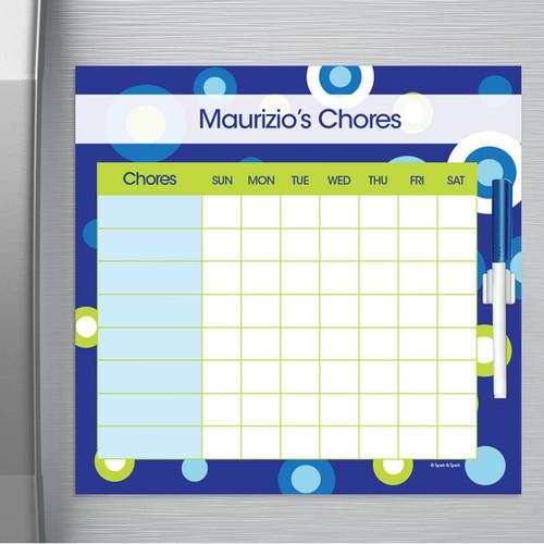 Circles And Circles Blue Chore Chart For Teens