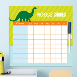 Dino And Me Green Charts For Kids