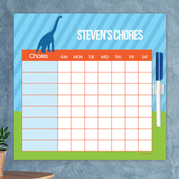 Dino And Me - Blue Chore Chart