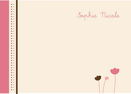 Modern Personalized Note Cards With Envelopes | Three Little Flowers