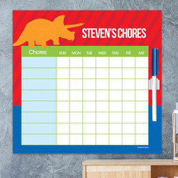 Dino And Me Red Chore Calendar