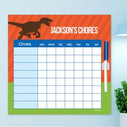 Dino And Me Orange Weekly Chore Chart
